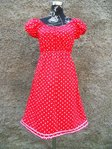 Rotes Punkte Kleid