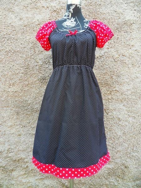 0f313d57648 Schwarz Rotes Punkte Kleid Tunika Punktekleid Dots Pünktchen