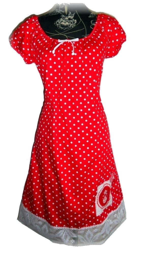 Rotes Matroschka Kleid Mit Punkten Pünktchenkleid Punkte E2WD9IH