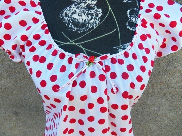 Punkten Punkten Kleid Mit Mit Weisses Roten Kleid Kleid Weisses Roten Mit Weisses F3KTJ51cul