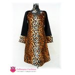 Leopard Langarmkleid im Animal Print