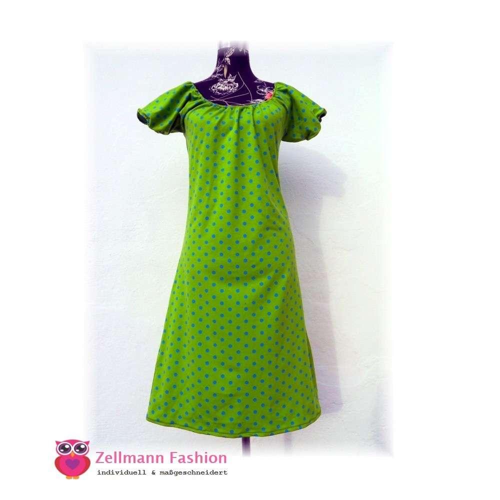 Kleid grun gepunktet